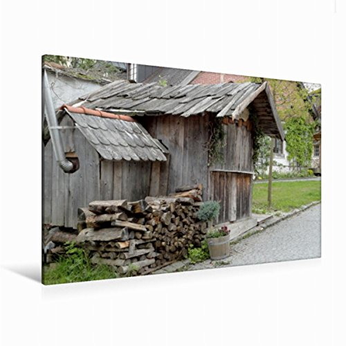 Premium Textil-Leinwand 120 cm x 80 cm quer Immobilie aus Holz | Wandbild, Bild auf Keilrahmen, Fertigbild auf echter Leinwand, Leinwanddruck: Hölzernes (CALVENDO Natur)