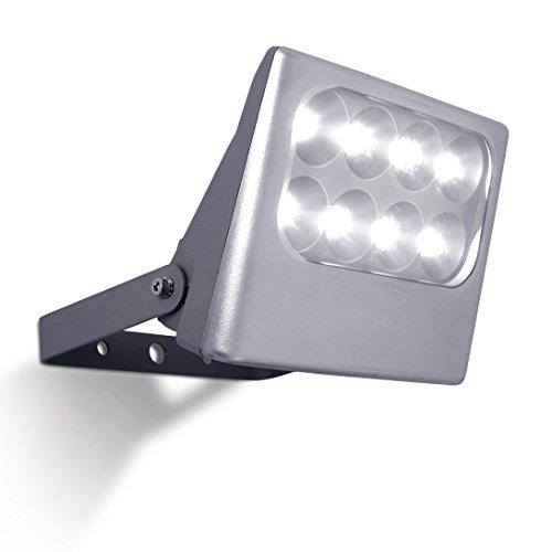 Eco Light Funktionaler LED-Außenwandstrahler Negara, 1540 lm, 24 W, silber 6170 SI