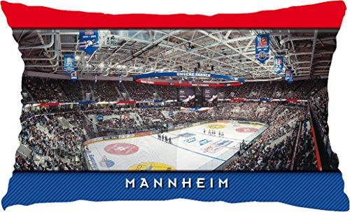 Blue-Letter Eishockey Mannheim Stadionkissen (50 cm x 30 cm)