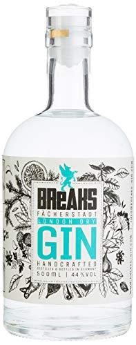 Breaks Premium Dry Gin – Ausgezeichneter Gin mit Lavendel & frischen Zitronen – Mild fruchtige Note – Handmade – 1 x 0,5 L