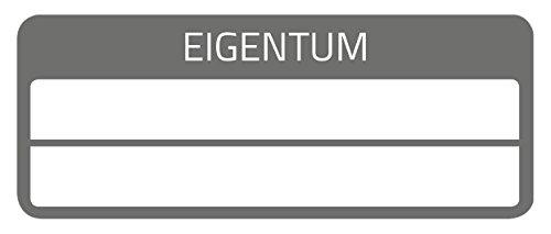AVERY Zweckform 6923 fälschungssichere Eigentums-Aufkleber (stark selbstklebend, Kleinformat, 50x20 mm, 50 Aufkleber auf 10 Blatt) weiß/schwarz