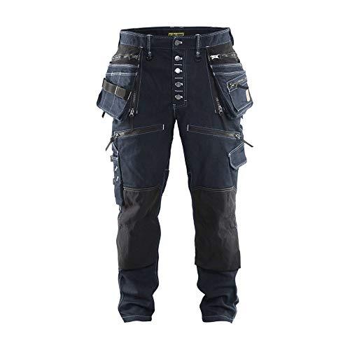 Handwerker Bundhose Stretch Marineblau/Schwarz C48